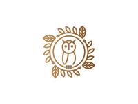 Monoline Owl Emblem