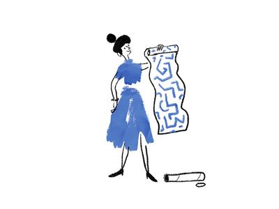 Lick Decorating Character photoshop blue illustrator design weirdink illustration midcentury diy painting