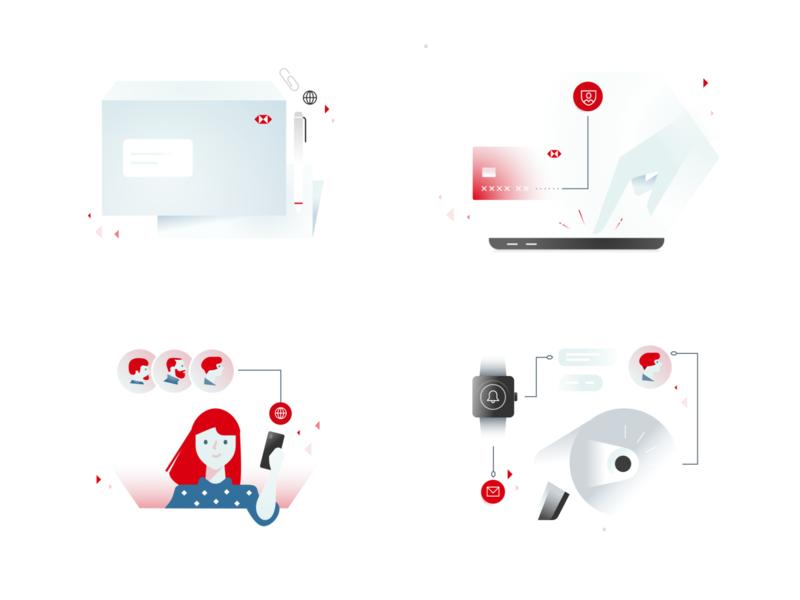 HSBC Illustration Exploration 2020 hsbc product brand illustration illustration banking