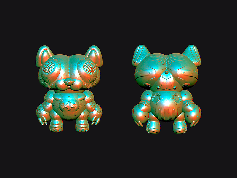 El Gato Beast mode el gatto warrior beast character toy concept