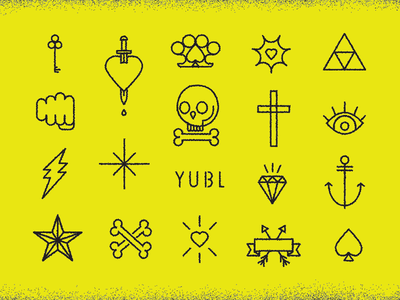 Dissolve Tattoo Stickers for Yubl risostyle lowfi dissolve skull icons