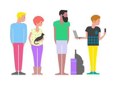 Passop.no characters human personas characters illustration