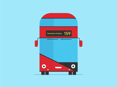 Routemaster london character doodle vector fun bus routemaster