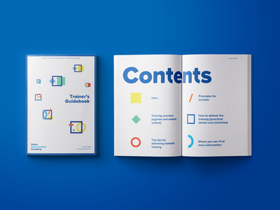 Trainer's Guidebook workshop indesign book collateral print