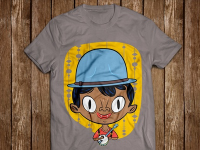 Rude Boy Willie clawhammer character tee banjo