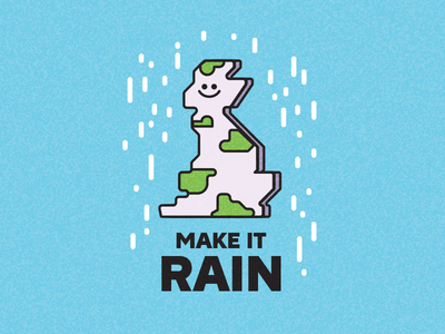 Make it rain vector illustrator funny character country island map uk rain