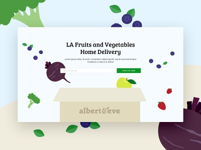 Delivery Farm Box Albert & Eve delivery food food delivery opencart ux ui ecommerce
