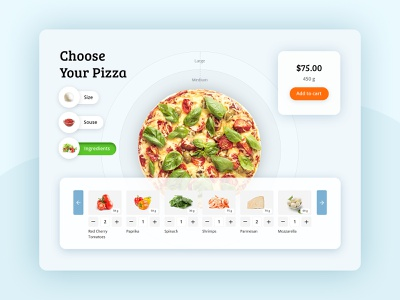 Design concept of the Pizza Constructor website design web design webdesign pizza menu pizza delivery pizza concept ui ux food delivery service food delivery food
