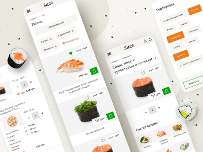 SET24 — sushi and pizza delivery food delivery pizza sushi ux ui ecommerce opencart fooddelivery food