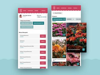 Flower Shop App app application appdesign flowerapp ux ui