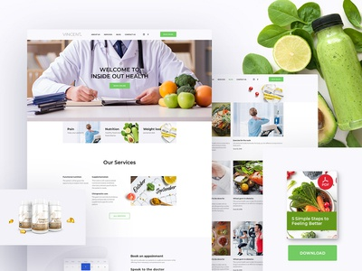 Inside Out Health And Wellness doctor homepage ux ui health