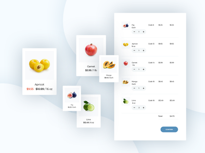 Cart for module Quick Order cart food modules envatomarket extensions template ux ui ecommerce opencart