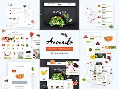 Avocado. Best shots. ux ui envatomarket modules themeforest food ecommerce envato theme template magento opencart