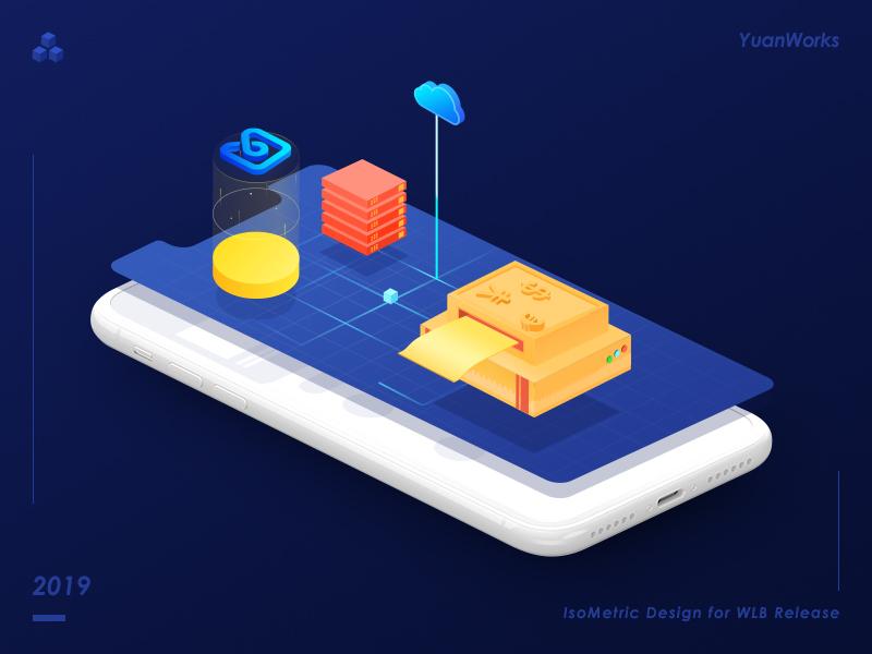mobile data iphonex ui illustration