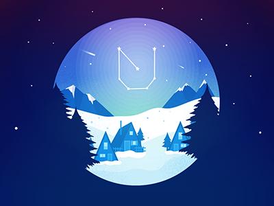 UNLOQ Winter Newsletter password vector constellation winter security passwordless