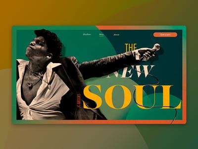 Neo-soul Landing page musician singer jcbrooks home web design landing music soul