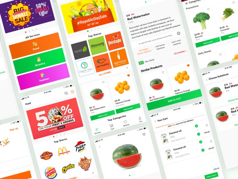 Aladin's Chirag Part: 01 shopper rating business offer login store product details list service cart delivery grocery app shop food ecommerce app ux ui