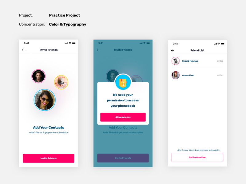 Invite Popup Contact chat bot popup contact invite chat design ios service business ux ui