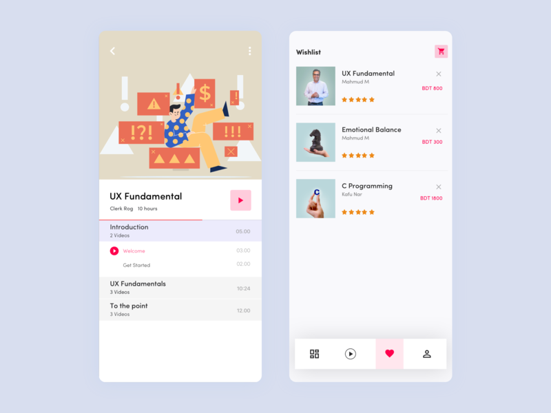 Conceptual Educational app course education typography startup product list design ios bangladesh service business ux ui