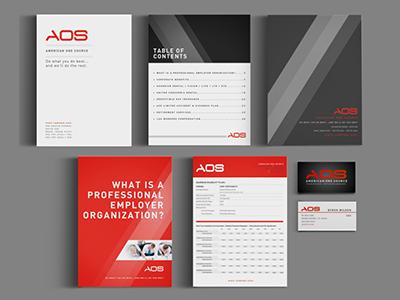 AOS - logo design corporate stationery identity branding design logo