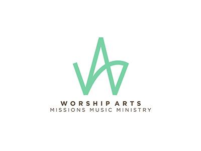 Worship Arts Logo non-profit identity branding design logo