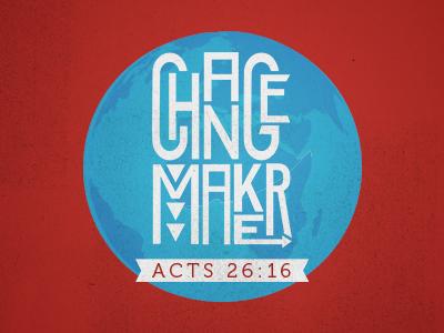 Change Maker Logo youth church christian change globe identity branding design logo