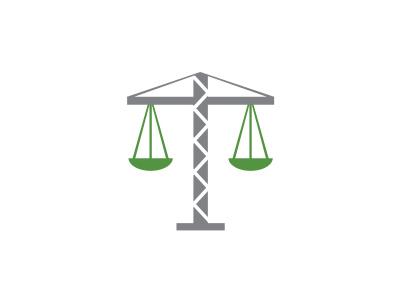 Chapman Law Firm balance icon illustration construction identity branding design logo