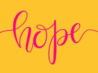 hope lettering