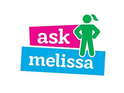 Logo for Ask Columnist girl color graphic design design logo design logo