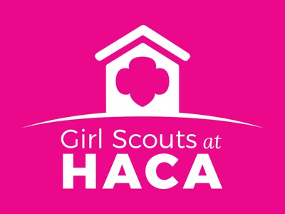 HACA logo girl scouts girls community housing authority