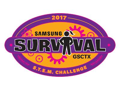 Samsung STEM Challenge Survival Rebound girl emblem logo science stem girl scouts samsung