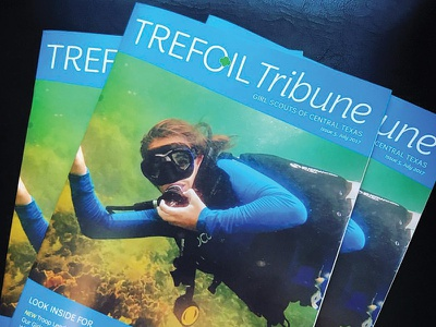 Trefoil Tribune Magazine girls scuba layout magazine design magazine layout magazine cover