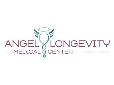 Logo Design for Angel Longevity Medical Center typography adobe illustrator design medical illustration logo identity branding