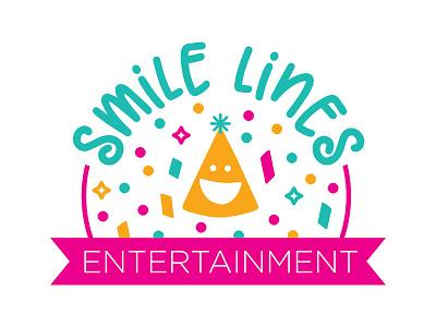 Smile Lines Entertainment Logo feminine playful fun colorful design logo entertainment