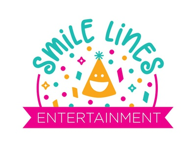 Smile Lines Entertainment Logo feminine playful fun colorful design logo entertainment