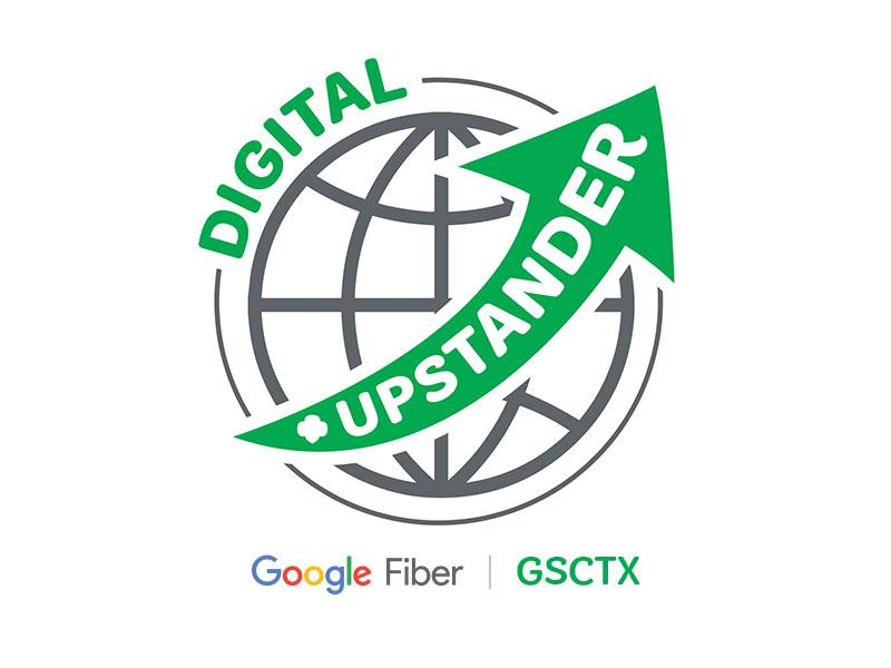 Digital Upstander - Patch Design google arrow mark logo design patch
