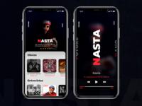 UI Music App iPhone X