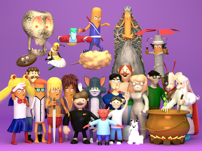 2018 in a render cinema4d character design render 3d character
