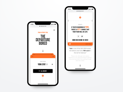 The Departure Bored user experience interface design interface webdesign ticket train mobile digital uxdesign uidesign ux ui
