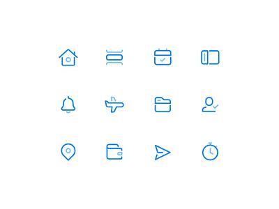 RotaCloud Icon Set rotas rota employee scheduling graphic  design graphics illustrator icon icons icon vector ui design