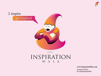 Inspiration Wala   2 inspire . Get inspired inspiration wala genie pencil illustrator orange pink creative mascot blog