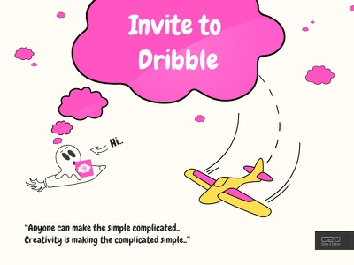 Dribbble Invite By Dzire 2 Dzine dribbble giveaway invite free draft illustrator