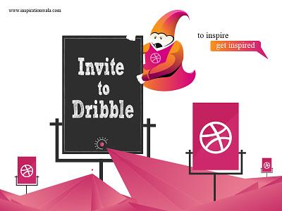 Dribbble Invite By Inspiration Wala inspiration wala genie pencil illustrator orange pink draft free invite giveaway dribbble