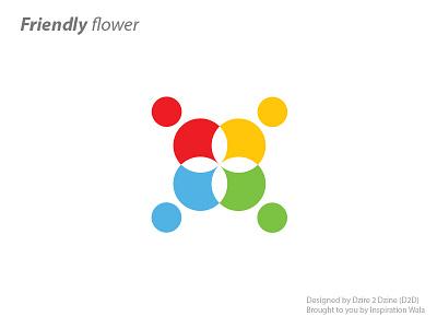 Friendly Flower inspiration wala 11-11 logo games logo friendly flower friends