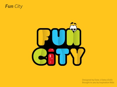 Fun City inspiration wala 11-11 logo games logo fun city kid play