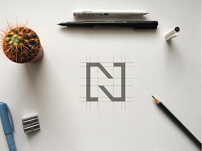 Tranzit N grid minimalism logogrid graphic design logo