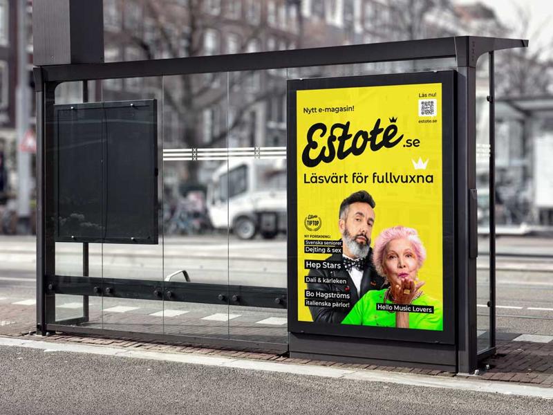 Estote Magazine, https://estote.se web content management magazine brand logo