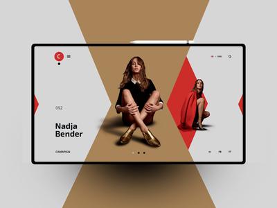 Nadja Bender website design uxdesign ux uidesign ui landingpage