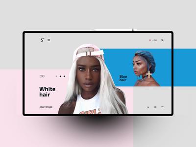 Hair website design uxdesign ux uidesign ui landingpage