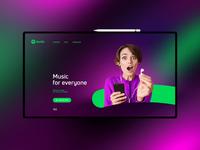 Spotify website design uxdesign ux uidesign ui landingpage
